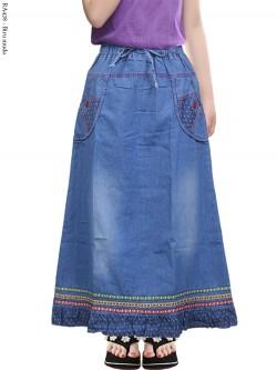 RA428 Rok Jeans Anak Tanggung List Renda