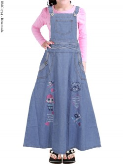 BMC1794 (16-20) Overall Jeans Anak Bordir 5-8th