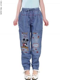 CJA127 Celana Jeans Anak Mickymouse