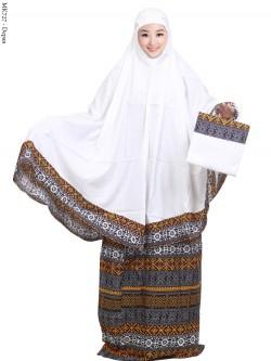 MK727 Mukena Bali Katun Rayon Batik Songket