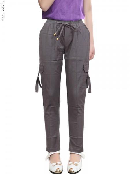 Cja137 Celana kargo Anak Tanggung Katun Twill Stretch