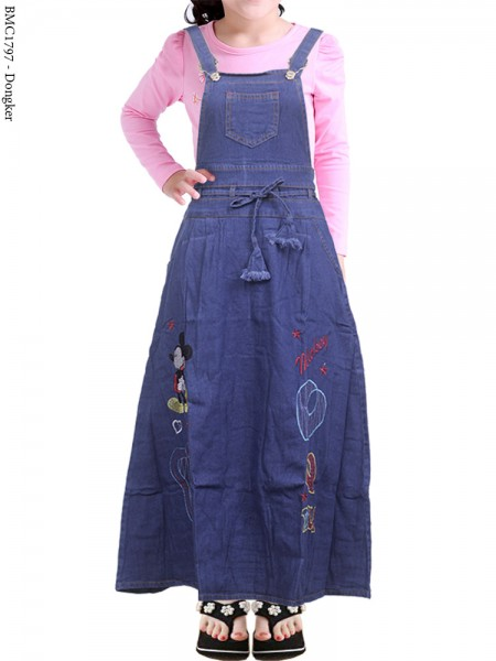 BMC1797 (22-26) Overall Jeans Anak Bordir 5-12th