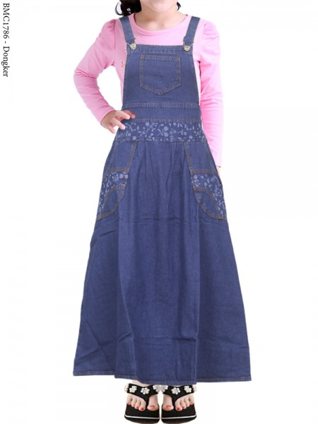 BMC1786(16-20) Overall Jeans Anak 5-8th