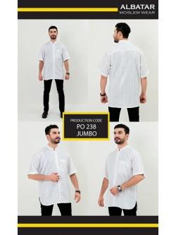 BKJ58 Baju Koko Albatar Jumbo Putih
