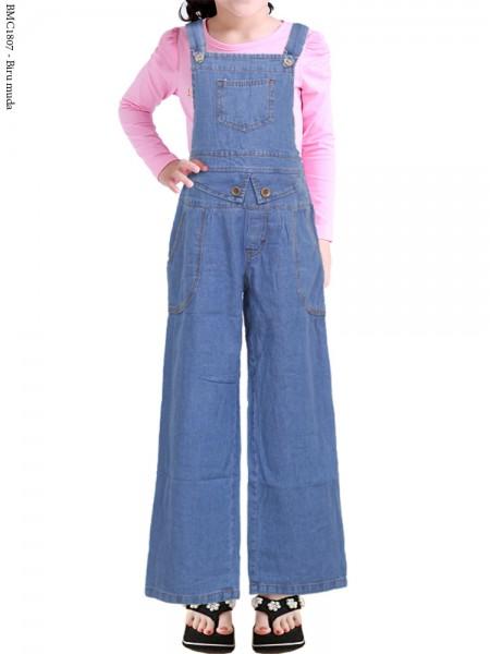 BMC1807 Overall Jeans Anak Celana Kulot