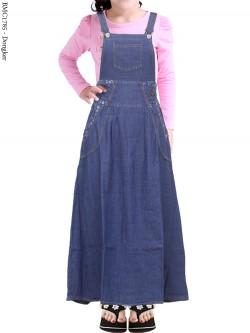 BMC1785 Overall Jeans Anak Tanggung List Bunga