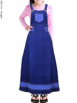 BMC1731 Overall Jeans Anak Tanggung List Salur