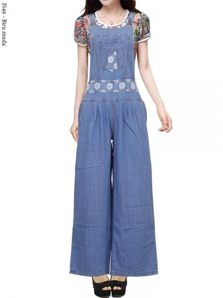 JS49 Overall Kulot Jeans Remaja