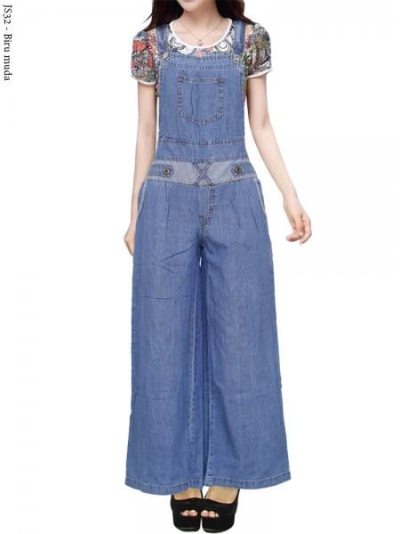 JS32 Overall Kulot Jeans Remaja