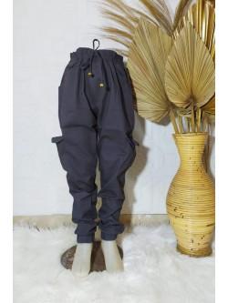 Cja140 Celana kargo Anak Tanggung Katun Twill Stretch