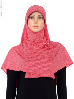 JLC151 Jilbab Langsung Cantik Polkadot