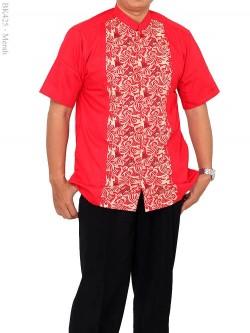 BK425 Baju Koko albatar Lengan Pendek Batik