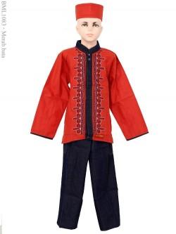 BML1083 (4-6) Baju Koko Anak Lengan Panjang
